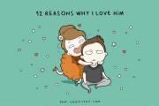 Σκιτσογράφος αποκαλύπτει 12 λόγους που αγαπάει το αγόρι της μέσα από ξεκαρδιστικά σκίτσα (1)