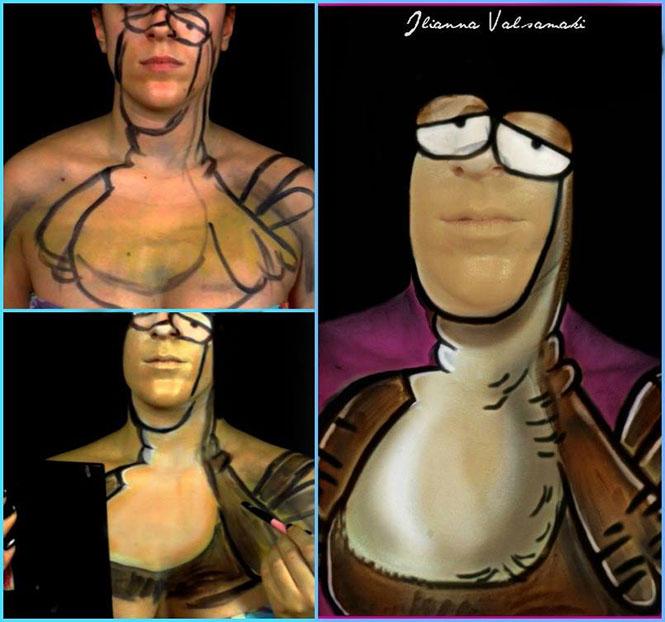 Makeup artist από την Πάτρα μεταμορφώνεται σε χαρακτήρες του Αρκά (10)