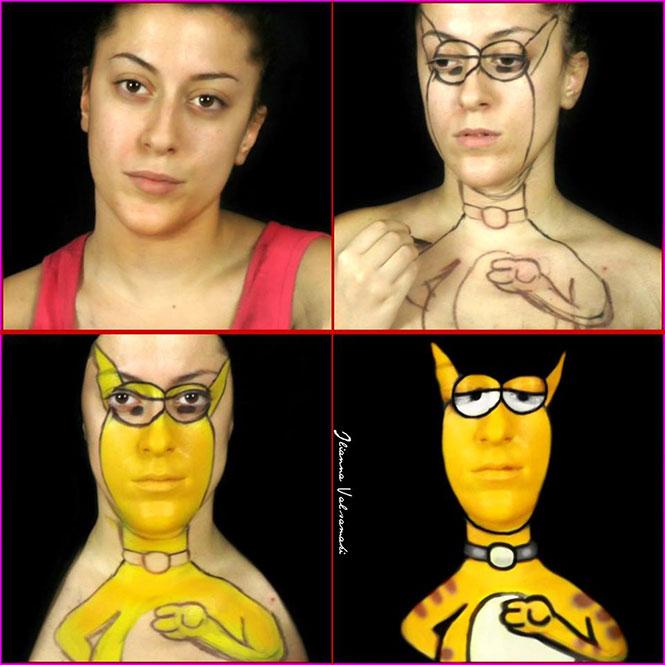 Makeup artist από την Πάτρα μεταμορφώνεται σε χαρακτήρες του Αρκά (8)