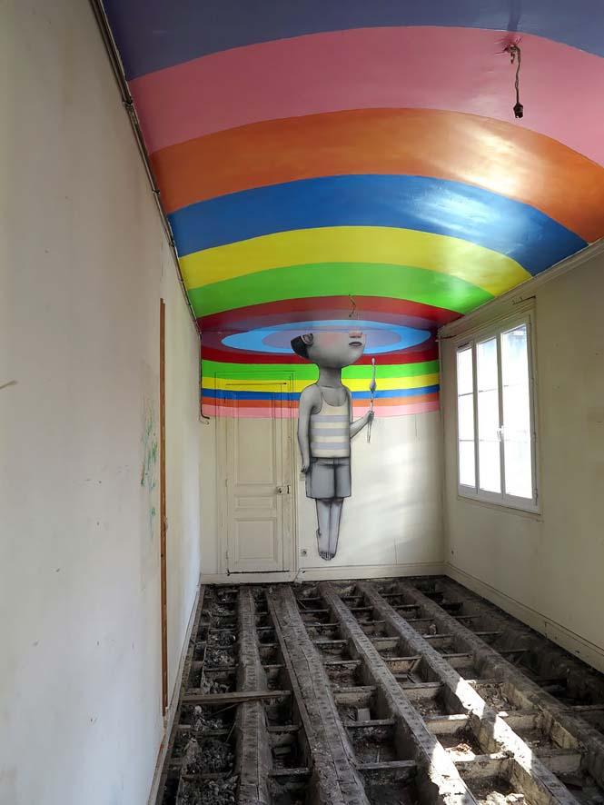 Γάλλος καλλιτέχνης μεταμορφώνει βαρετά κτήρια σε εντυπωσιακά έργα τέχνης (2)