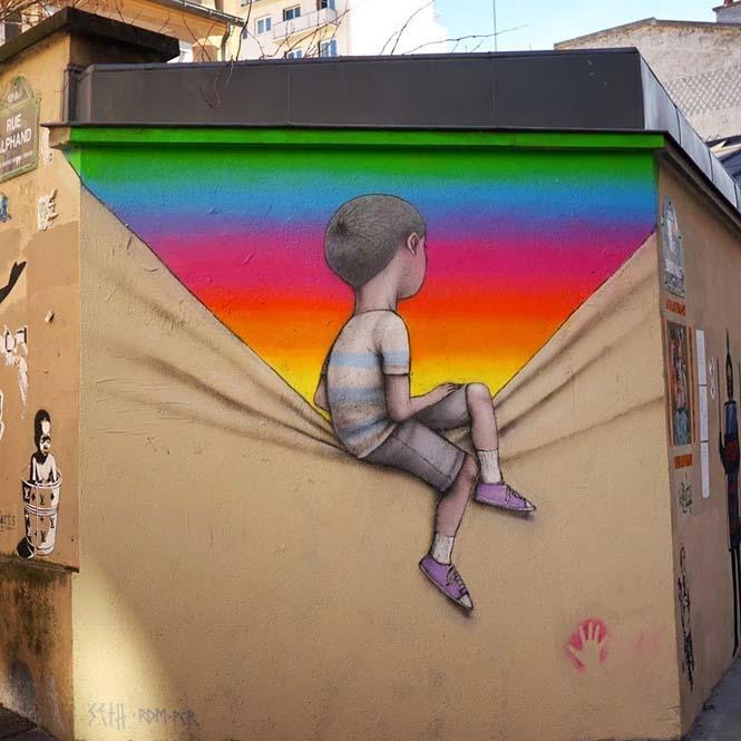 Γάλλος καλλιτέχνης μεταμορφώνει βαρετά κτήρια σε εντυπωσιακά έργα τέχνης (3)