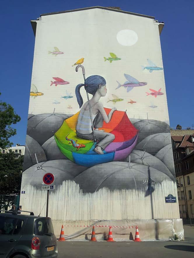 Γάλλος καλλιτέχνης μεταμορφώνει βαρετά κτήρια σε εντυπωσιακά έργα τέχνης (8)