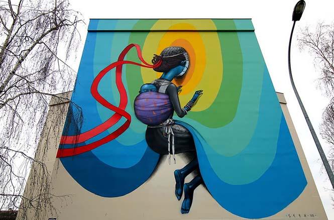Γάλλος καλλιτέχνης μεταμορφώνει βαρετά κτήρια σε εντυπωσιακά έργα τέχνης (10)
