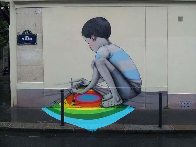 Γάλλος καλλιτέχνης μεταμορφώνει βαρετά κτήρια σε εντυπωσιακά έργα τέχνης (11)