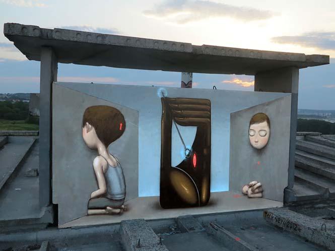 Γάλλος καλλιτέχνης μεταμορφώνει βαρετά κτήρια σε εντυπωσιακά έργα τέχνης (19)