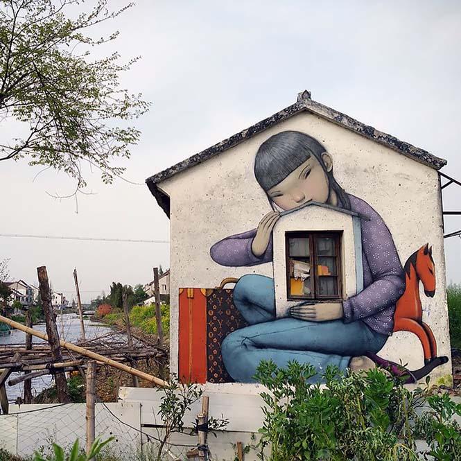 Γάλλος καλλιτέχνης μεταμορφώνει βαρετά κτήρια σε εντυπωσιακά έργα τέχνης (25)