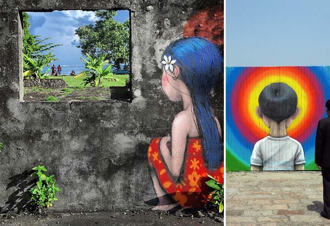 Γάλλος καλλιτέχνης μεταμορφώνει βαρετά κτήρια σε εντυπωσιακά έργα τέχνης (26)