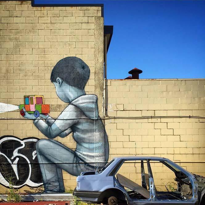 Γάλλος καλλιτέχνης μεταμορφώνει βαρετά κτήρια σε εντυπωσιακά έργα τέχνης (27)