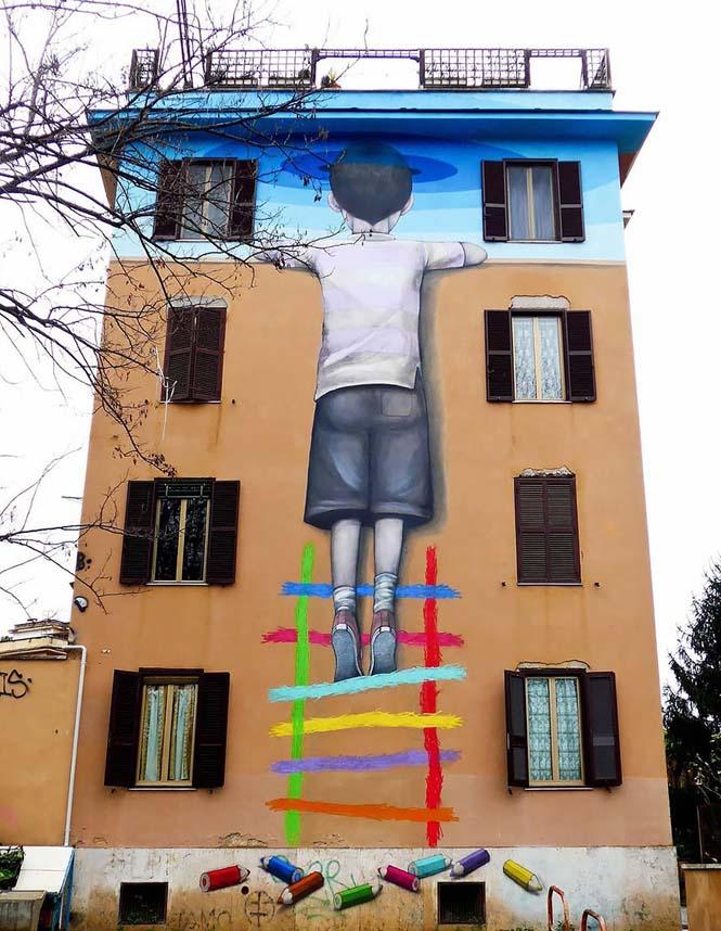Γάλλος καλλιτέχνης μεταμορφώνει βαρετά κτήρια σε εντυπωσιακά έργα τέχνης (28)