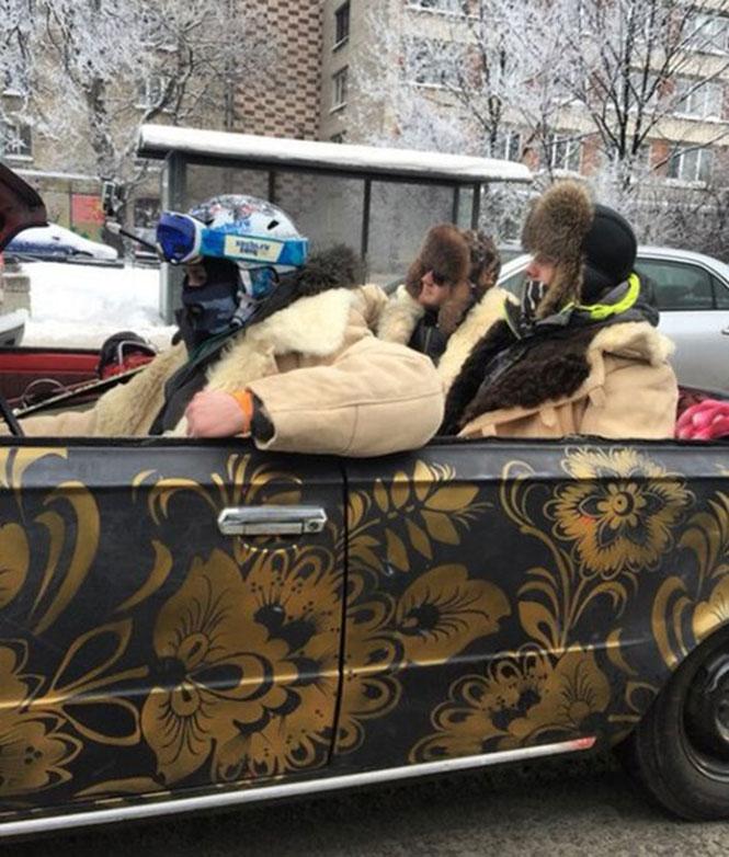 Μόνο στην Ρωσία θα κυκλοφορούσαν έτσι μέσα στον Χειμώνα (2)