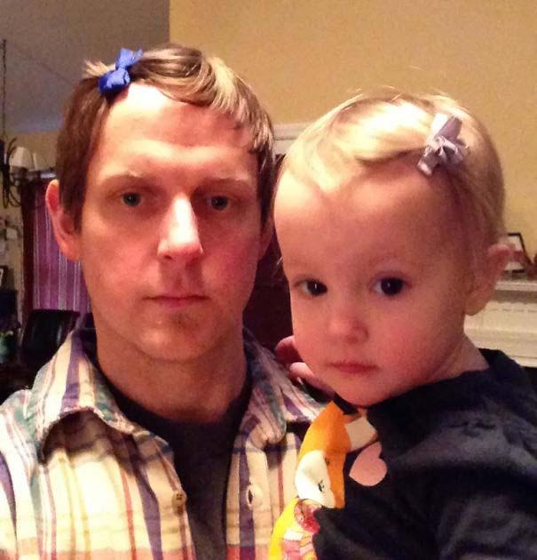 Μπαμπάδες που άφησαν τις κόρες τους να τους κάνουν όμορφους (3)