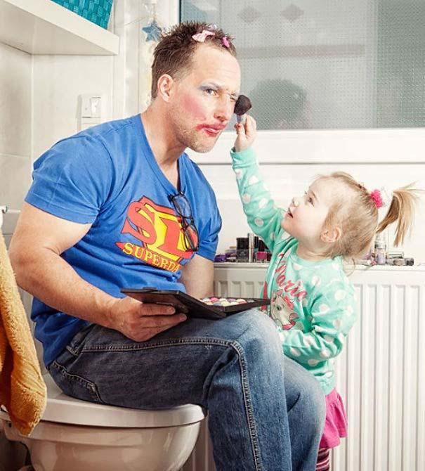 Μπαμπάδες που άφησαν τις κόρες τους να τους κάνουν όμορφους (4)