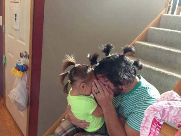 Μπαμπάδες που άφησαν τις κόρες τους να τους κάνουν όμορφους (5)
