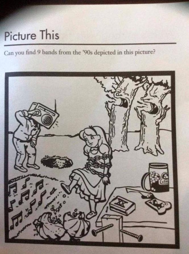 Μπορείτε να βρείτε 9 συγκροτήματα των 90's σε αυτή την εικόνα; (2)