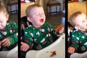 Μωρό δοκιμάζει μπέικον για πρώτη φορά και η αντίδραση του δεν περιγράφεται με λέξεις