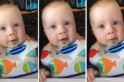 Μωρό συγκινείται ακούγοντας την μαμά του να τραγουδάει