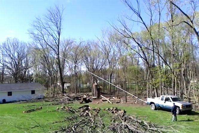 Όταν κόβεις ένα δένδρο και αυτό πέφτει ακριβώς εκεί που δεν έπρεπε