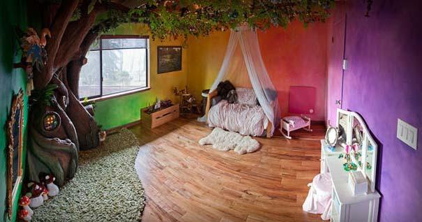 Πατέρας αφιέρωσε 18 μήνες για να μεταμορφώσει το δωμάτιο της κόρης του σε δενδρόσπιτο νεράιδας (19)
