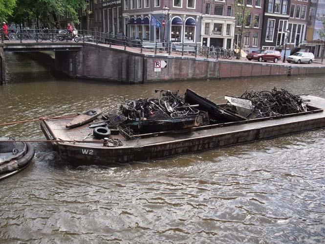 Ψαρεύοντας ποδήλατα στα κανάλια του Άμστερνταμ (4)