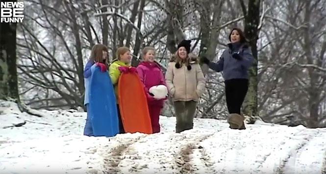 Ρεπόρτερ στα χιόνια... και τα απρόοπτα καραδοκούν!