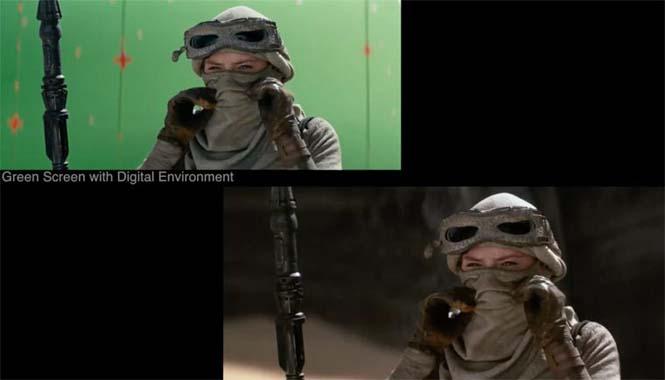 Star Wars VII: The Force Awakens - Πριν και μετά τα ειδικά εφέ (3)