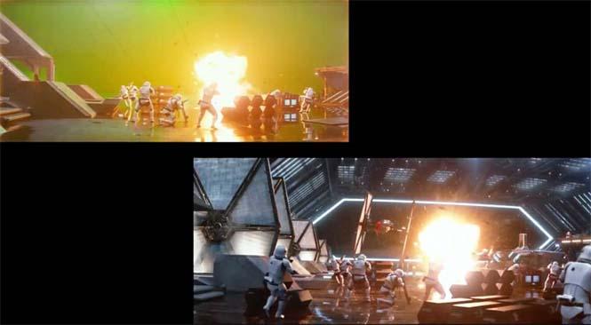 Star Wars VII: The Force Awakens - Πριν και μετά τα ειδικά εφέ (5)