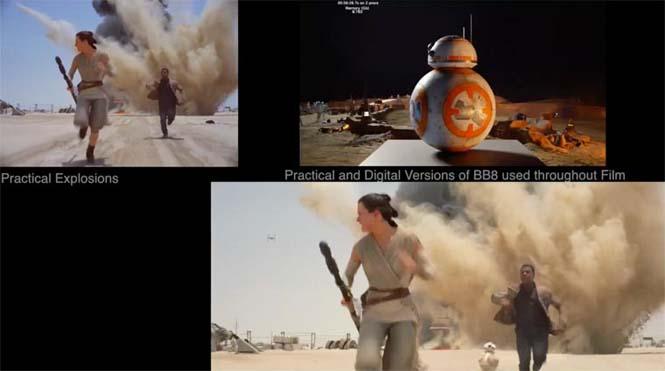 Star Wars VII: The Force Awakens - Πριν και μετά τα ειδικά εφέ (6)
