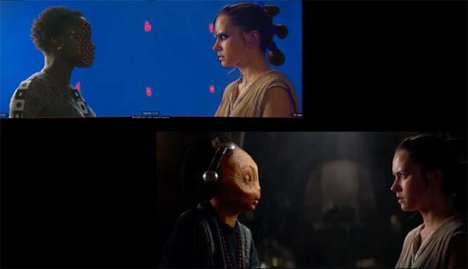 Star Wars VII: The Force Awakens - Πριν και μετά τα ειδικά εφέ (9)