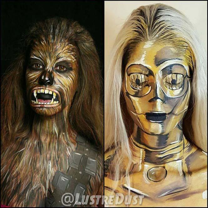 Σούπερ ήρωες με body painting (1)
