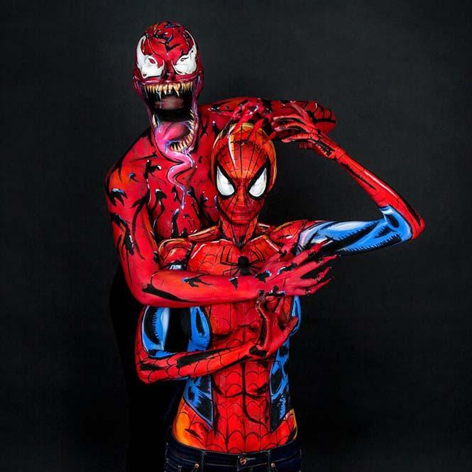 Σούπερ ήρωες με body painting (5)
