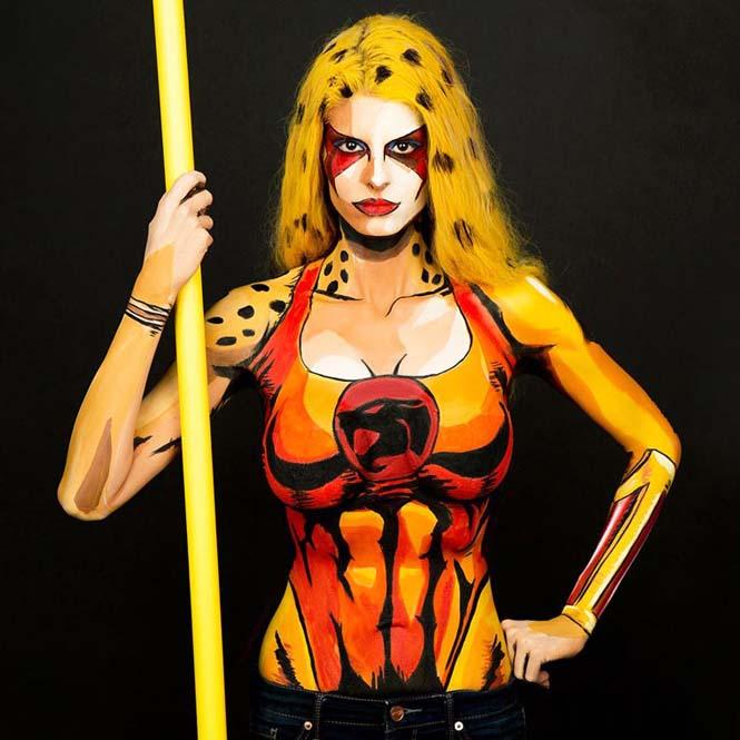Σούπερ ήρωες με body painting (6)