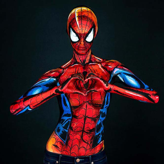 Σούπερ ήρωες με body painting (9)