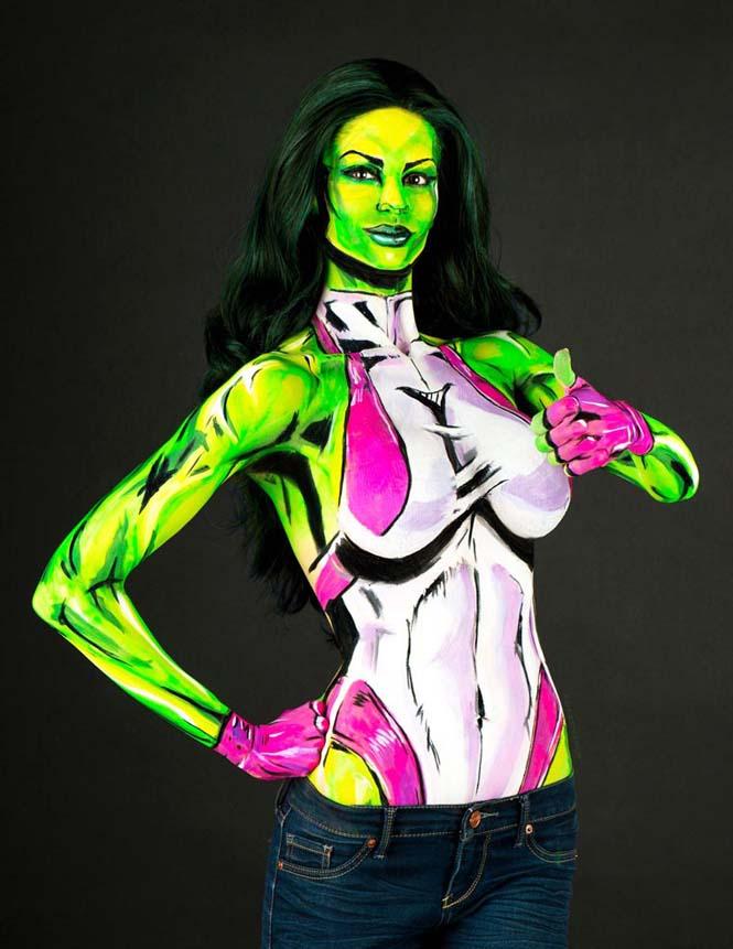 Σούπερ ήρωες με body painting (11)