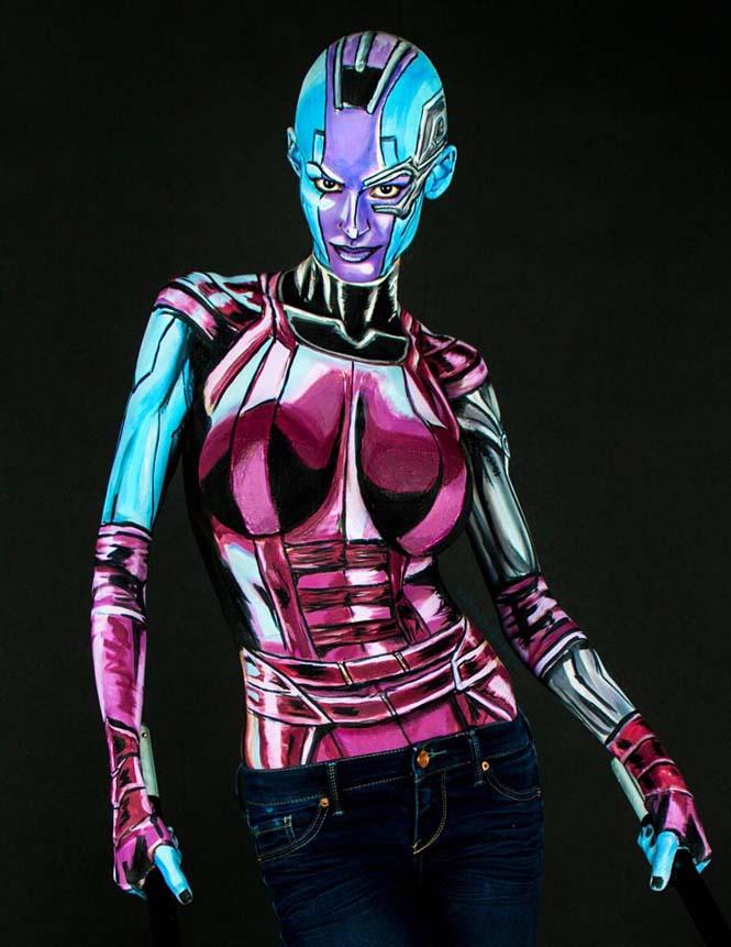 Σούπερ ήρωες με body painting (18)