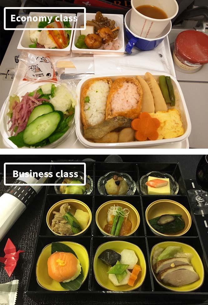 Φαγητό αεροπορικών εταιρειών: Οικονομική vs Πρώτη θέση (1)