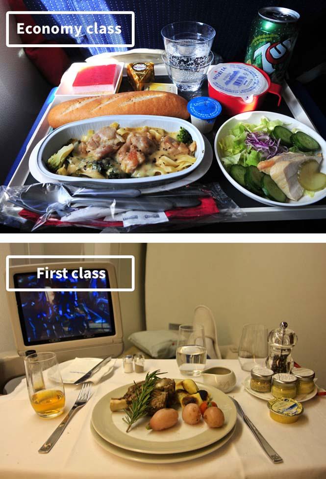 Φαγητό αεροπορικών εταιρειών: Οικονομική vs Πρώτη θέση (3)