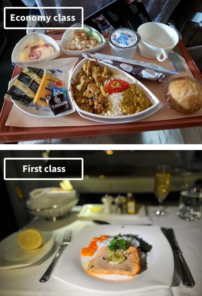 Φαγητό αεροπορικών εταιρειών: Οικονομική vs Πρώτη θέση (4)
