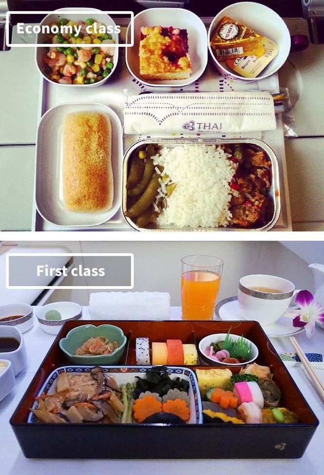 Φαγητό αεροπορικών εταιρειών: Οικονομική vs Πρώτη θέση (5)