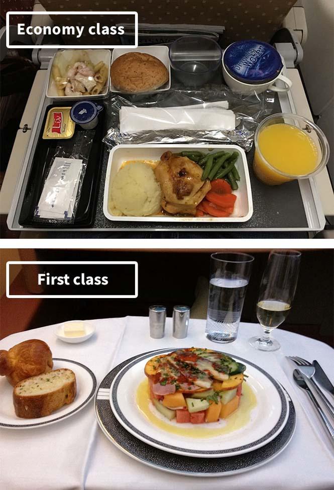 Φαγητό αεροπορικών εταιρειών: Οικονομική vs Πρώτη θέση (6)