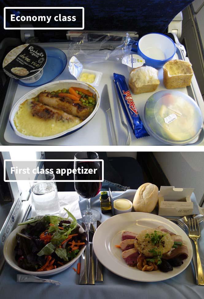 Φαγητό αεροπορικών εταιρειών: Οικονομική vs Πρώτη θέση (7)