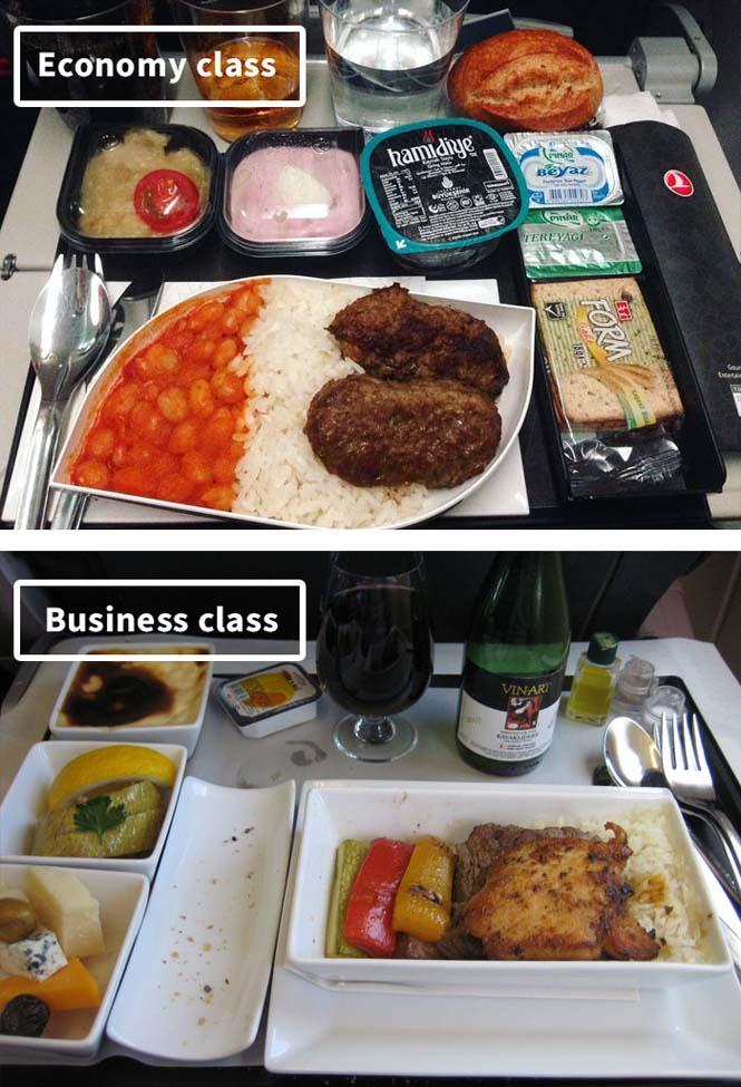 Φαγητό αεροπορικών εταιρειών: Οικονομική vs Πρώτη θέση (8)