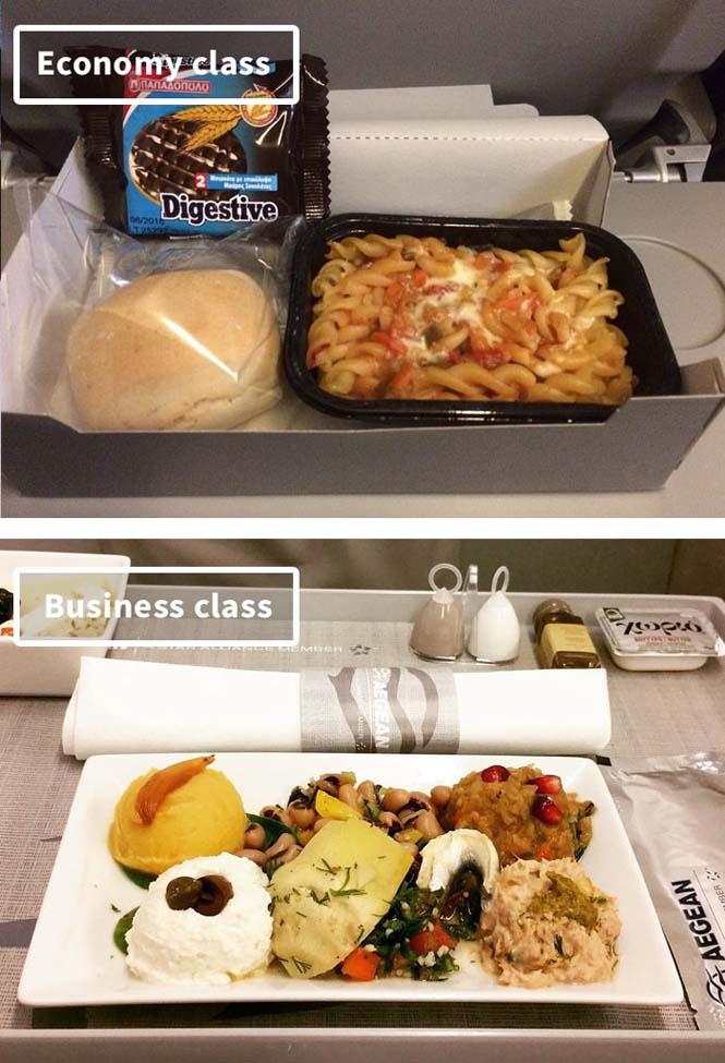 Φαγητό αεροπορικών εταιρειών: Οικονομική vs Πρώτη θέση (9)