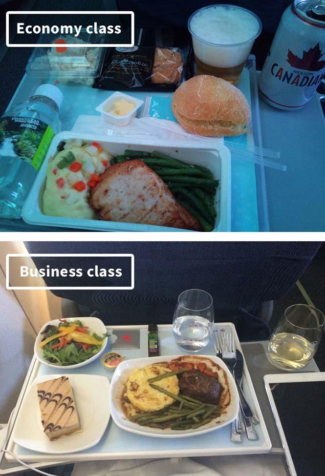 Φαγητό αεροπορικών εταιρειών: Οικονομική vs Πρώτη θέση (10)
