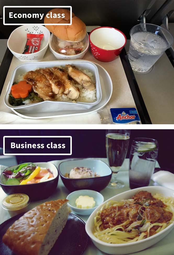 Φαγητό αεροπορικών εταιρειών: Οικονομική vs Πρώτη θέση (11)