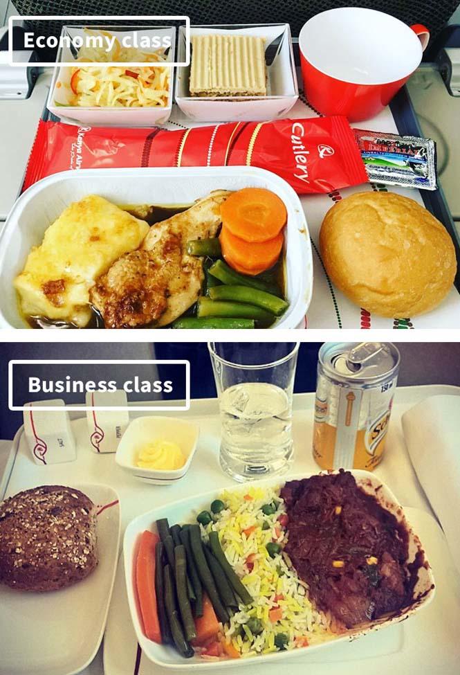 Φαγητό αεροπορικών εταιρειών: Οικονομική vs Πρώτη θέση (12)