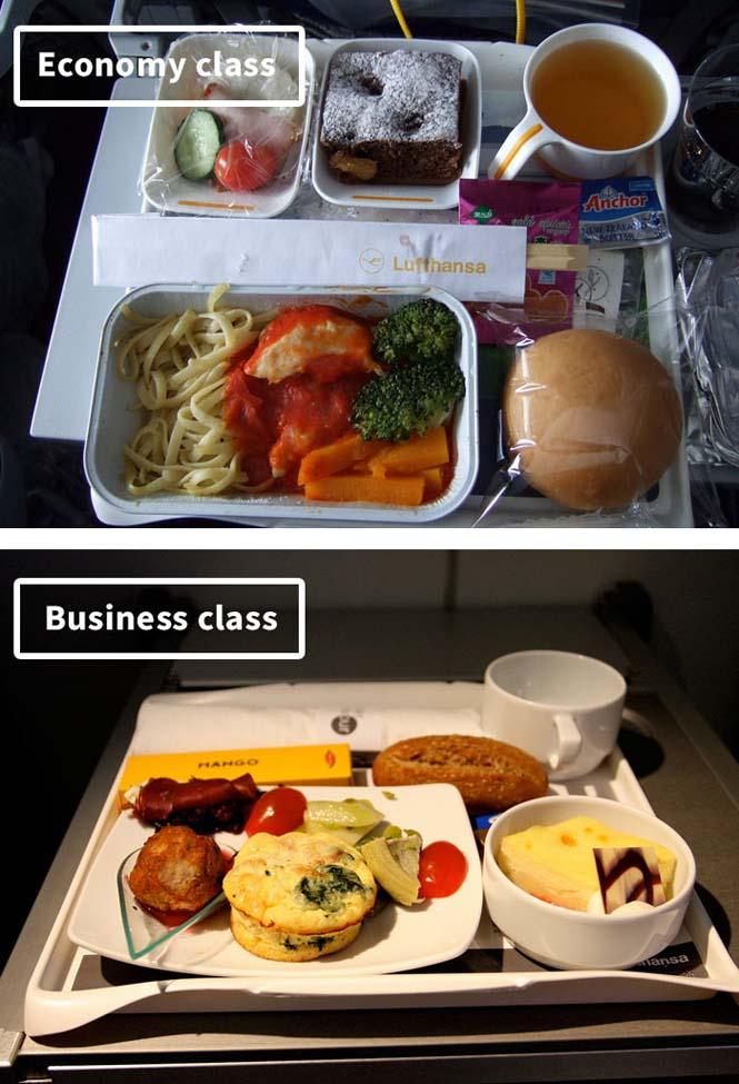 Φαγητό αεροπορικών εταιρειών: Οικονομική vs Πρώτη θέση (13)