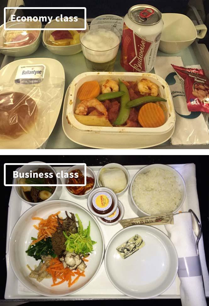Φαγητό αεροπορικών εταιρειών: Οικονομική vs Πρώτη θέση (14)