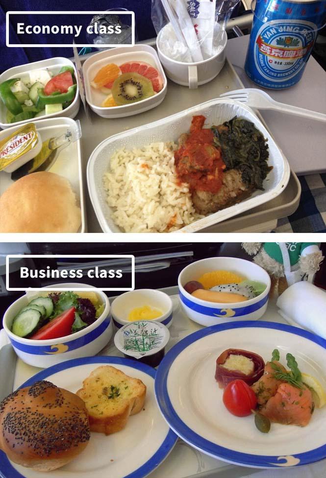 Φαγητό αεροπορικών εταιρειών: Οικονομική vs Πρώτη θέση (15)