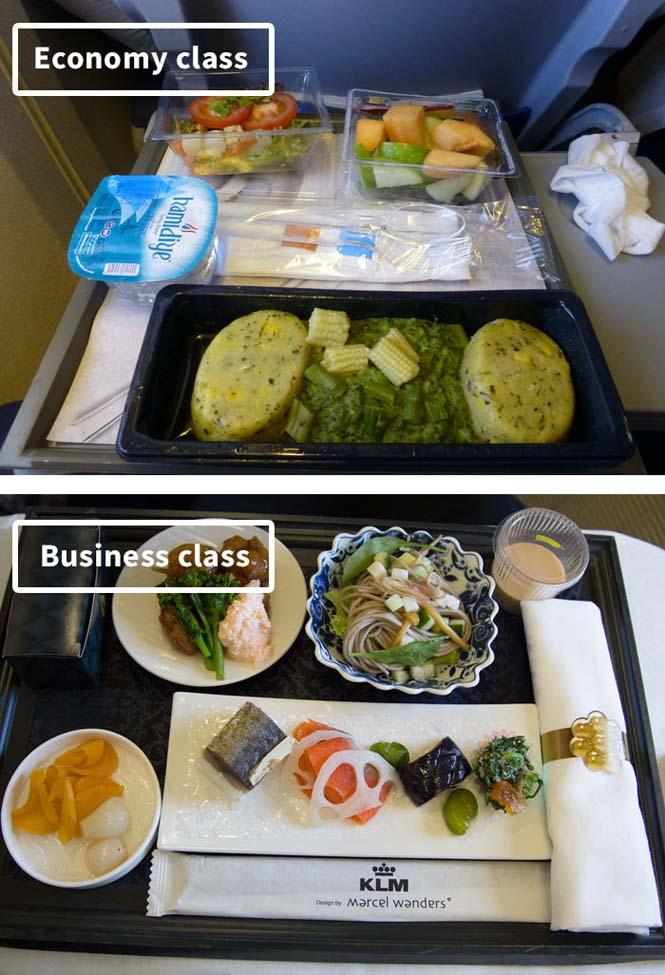 Φαγητό αεροπορικών εταιρειών: Οικονομική vs Πρώτη θέση (16)