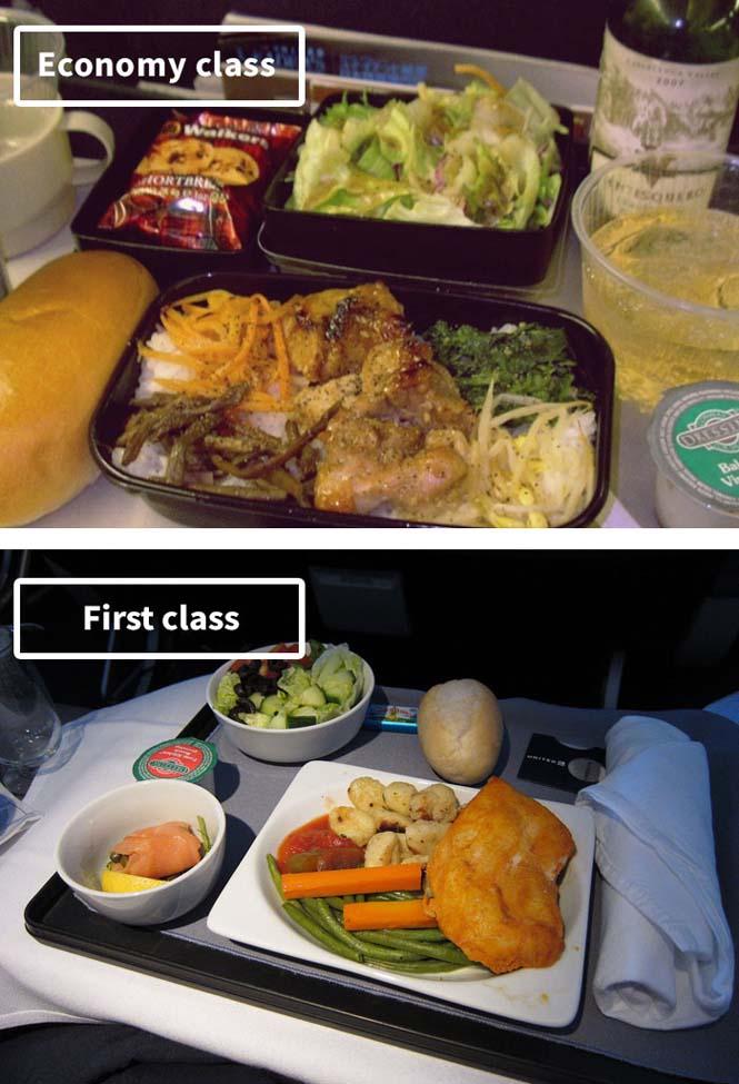 Φαγητό αεροπορικών εταιρειών: Οικονομική vs Πρώτη θέση (17)